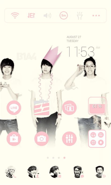theme line kpop android b1a4 line launcher theme android apps on google play
