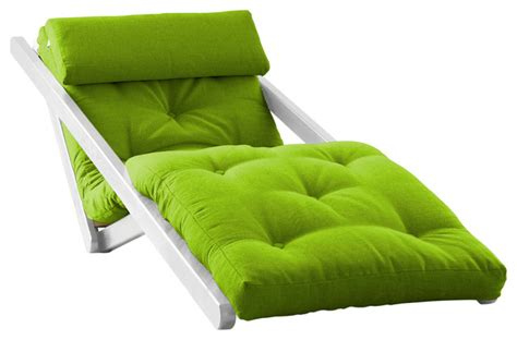 figo futon figo convertible futon chair bed white frame lime