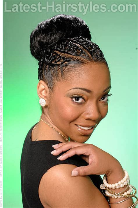 twisted bun hairstyle on american 7 styles how to braid african american hair like the pros