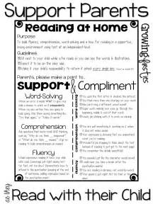 Book Report Letter To Parents Parent Support For At Home Reading Amp Back To School Parent