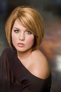 Hairstyles for a round face and short neck