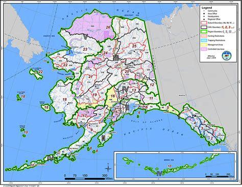 map alaska alaska gmu maps alaska department of fish and