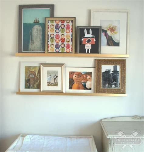 gallery wall  ikea ribba ledges gallery wall ikea wall wall bookshelves