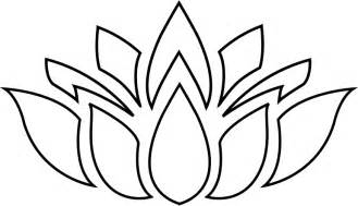 Lotus Silhouette Abstract Free Printable Domain Colouring Pages