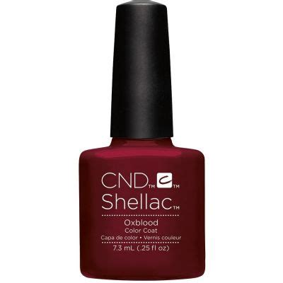 cnd l bulbs cnd shellac oxblood gel color coat l gel nails