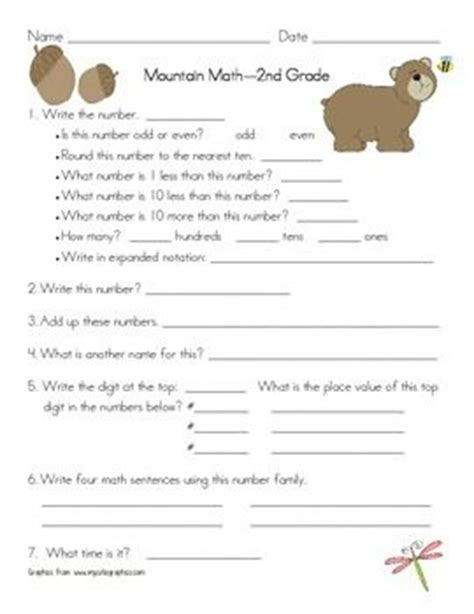 Math Mountain Worksheets by Mountain Math Worksheet 2nd Grade School Stuff Math