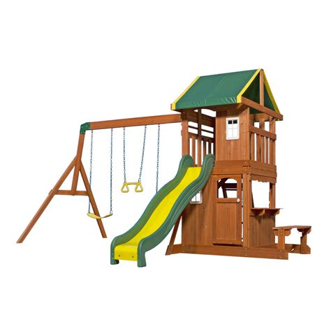 Backyard Discovery Lowes Shop Backyard Discovery Oakmont Residential Wood Playset
