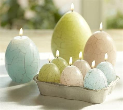 Pottery Barn Kids Window Treatments - crackle egg easter candle contemporary candles by pottery barn