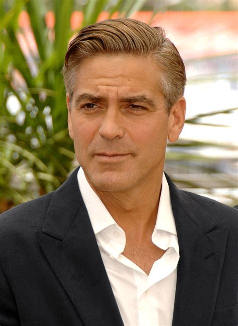 hairstyles for a 50 year old man george clooney favorite color song sports team food biography