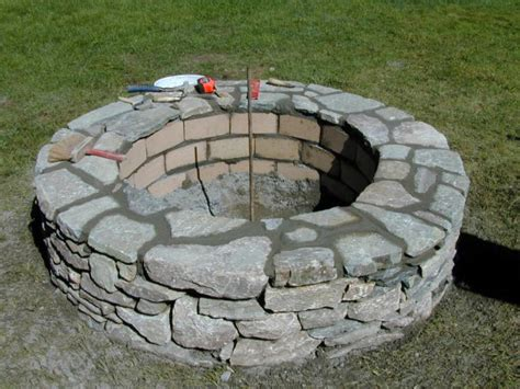rock firepit how to build a pit how tos diy
