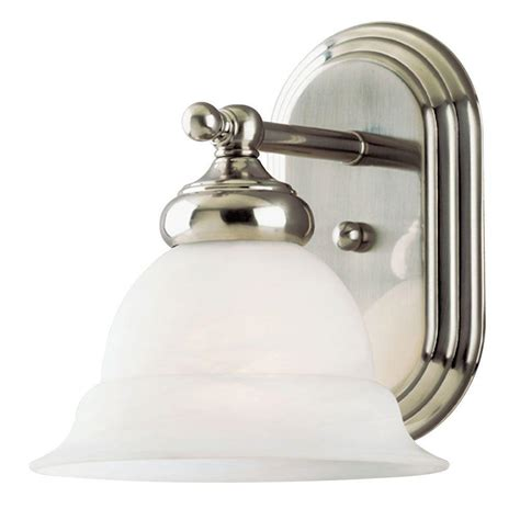 Westinghouse Light Fixtures Westinghouse 1 Light Brushed Nickel Interior Wall Fixture With Frosted White Alabaster Glass