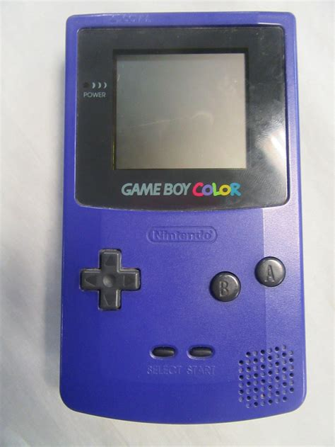 gameboy color value 1998 nintendo boy color handheld console grape purple