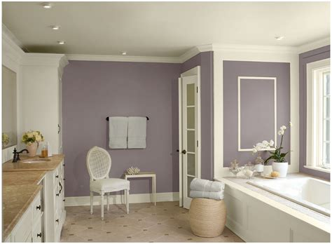 this purple bathroom would be a delight for anyone coming home from a stressful day at work the