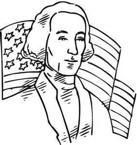 Coloriage  George Washington Premier Pr&233sident Des Etat Unis sketch template
