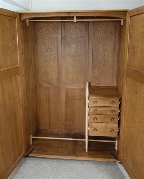 Chest Of Drawers Inside Wardrobe Antiques Atlas Ercol Elm Wardrobe Chest Of Drawers Inside