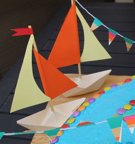 sailboat out of paper sailboat decorations paper boat party decorations