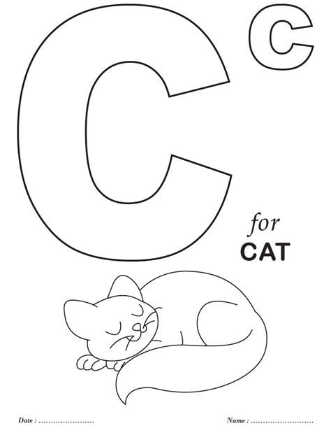 printable coloring pages letters printables alphabet c coloring sheets download free