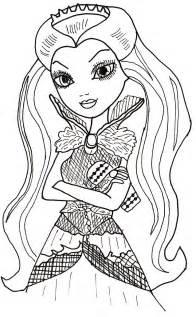 Dibujo para imprimir y colorear de raven queen