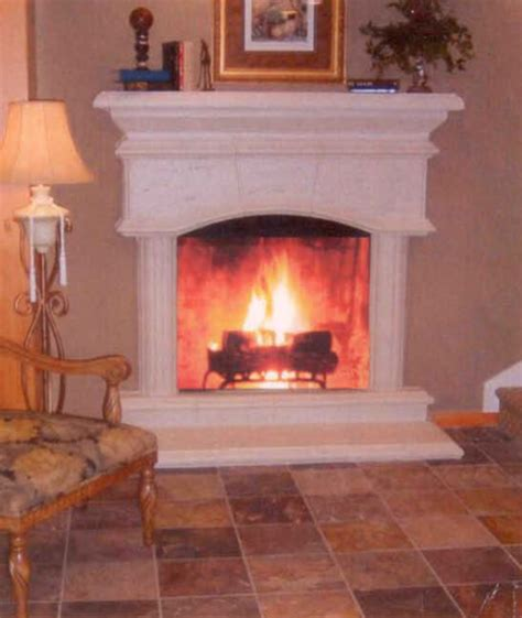 vail arched fireplace mantel