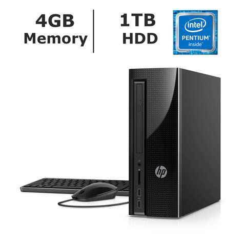 Hp Slimline Desktop 260 P026l hp slimline 260 a010 desktop intel pentium j3710 4gb