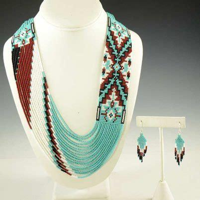 Rena Set navajo beaded necklace and earrings set rena charles
