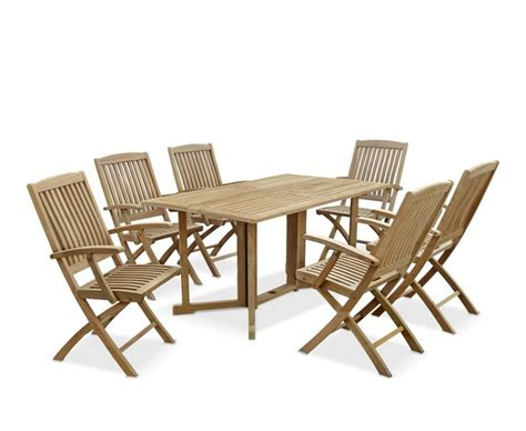 Gateleg Dining Table And Chairs Shelley Rectangular Garden Table And Arm Chairs Set 6 Seater Gateleg Garden Dining Set