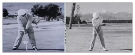 ben hogan swing thoughts why flaring your feet at address makes golf easier page