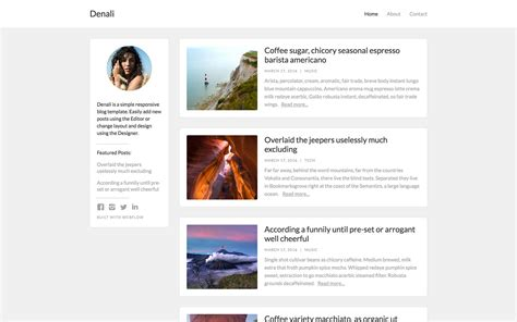 templates for blog website denali blog html5 responsive website template