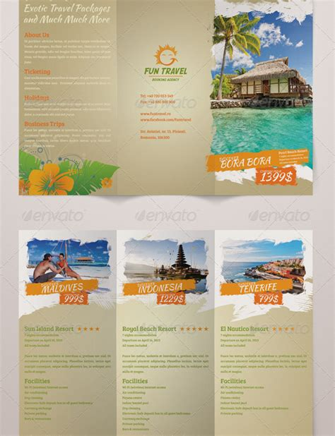 example of a travel brochure 46 travel brochure templates free