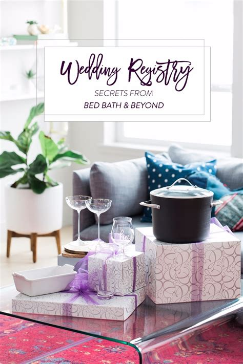 wedding registry secrets from bed bath beyond