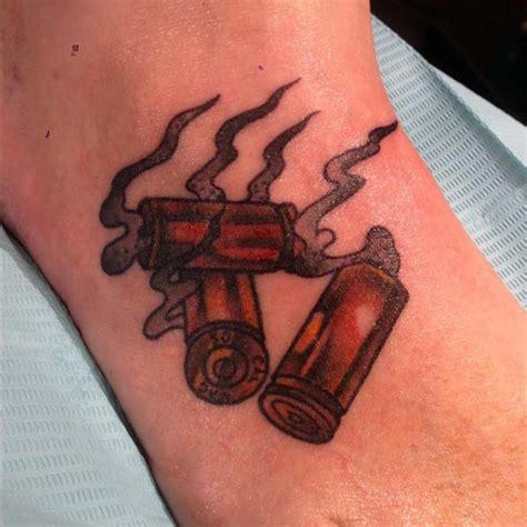 shotgun shell tattoo 60 bullet tattoos for a of design ideas