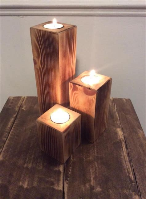 pallet candle holders easy   pallet furniture
