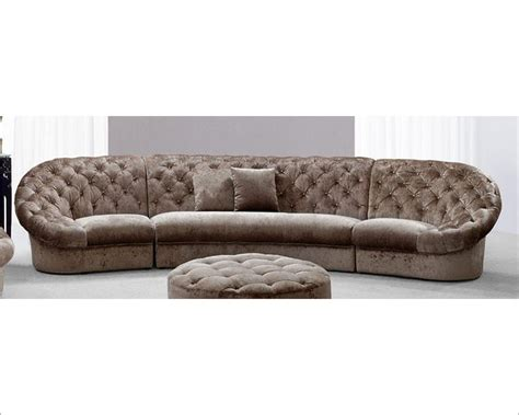 Tufted Leather Settee Modern Tufted Fabric Sectional Sofa 44l6039