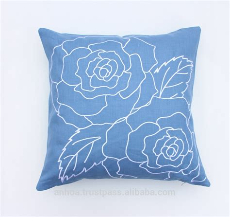 Cushion Handmade - design flower pillow cover handmade embroidery