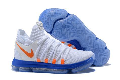 blue and orange kd 5 2017 nike zoom kd 10 white blue orange for sale