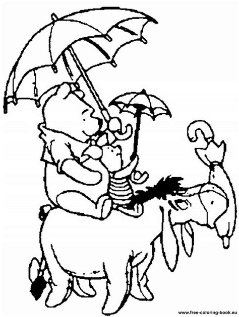 free winnie the pooh rabbit coloring pages