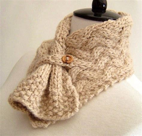knitting pattern scarf cable easy knitting pattern scarf easy cable neckwarmer knit pdf digital