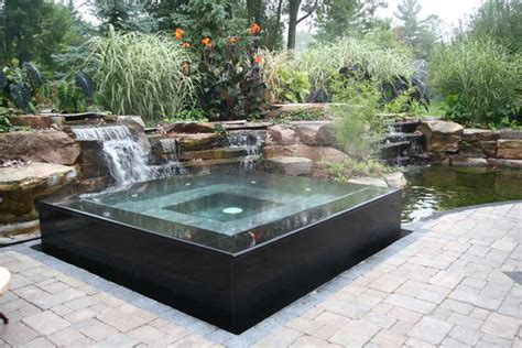 backyard pool design and spa design coordinated with