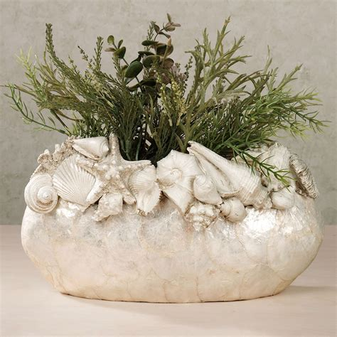 Vases With Seashells by Seashell Island Capiz Shell Decorative Vase