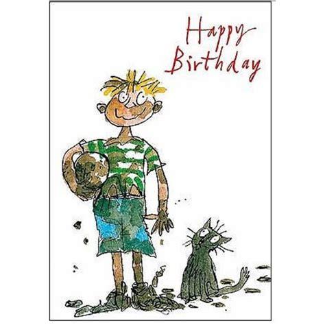 Ocado Gift Card - quentin blake muddy boy birthday card from ocado