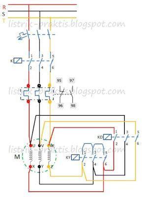 Kunci Panel Listrik Pin diagram daya starting motor listrik delta panel diagram and