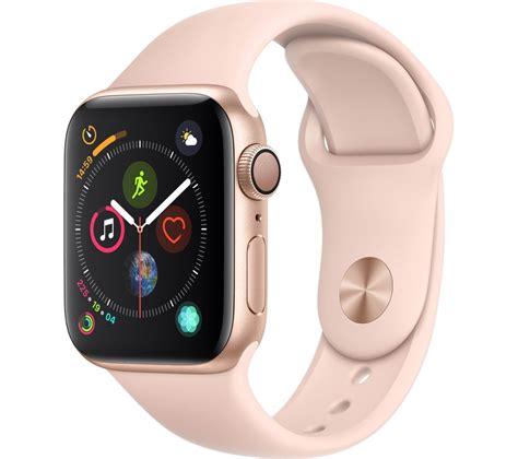 Apple Series 4 July 4 Sale by Buy Apple Series 4 Gold Pink Sports Band 40 Mm Free Delivery Currys