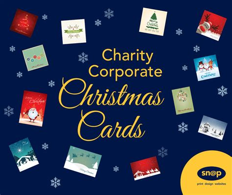 personalised corporate christmas cards charity cards snap
