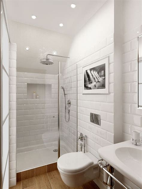 white batroom metro tile en suite shower room ideas