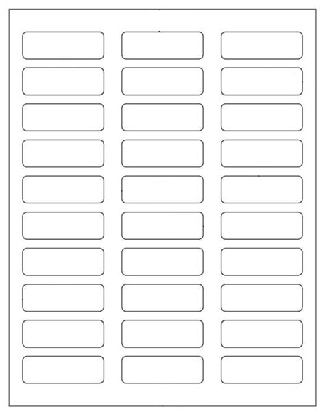 1 x 3 label template 600 blank mailing address labels 2 1 4 quot x 3 4 quot use avery