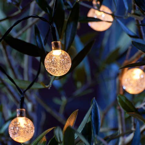set   crystal ball led solar string lights auraglow