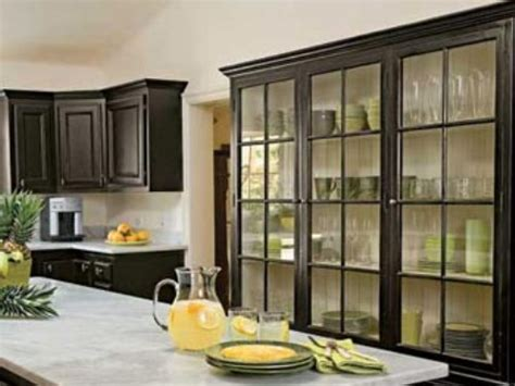 black kitchen cabinets with glass kitchen solutions inside