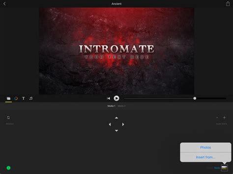imovie intro templates free intromate intro maker for imovie ipa cracked for ios