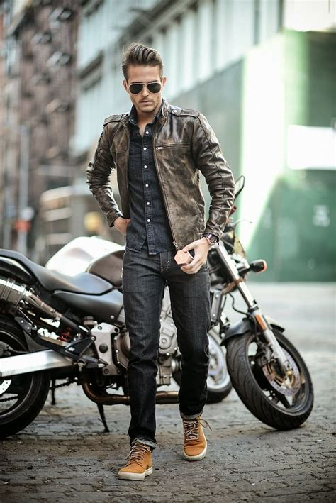motorcycle style leather jacket more style inspiration fashion updates www dapperfied