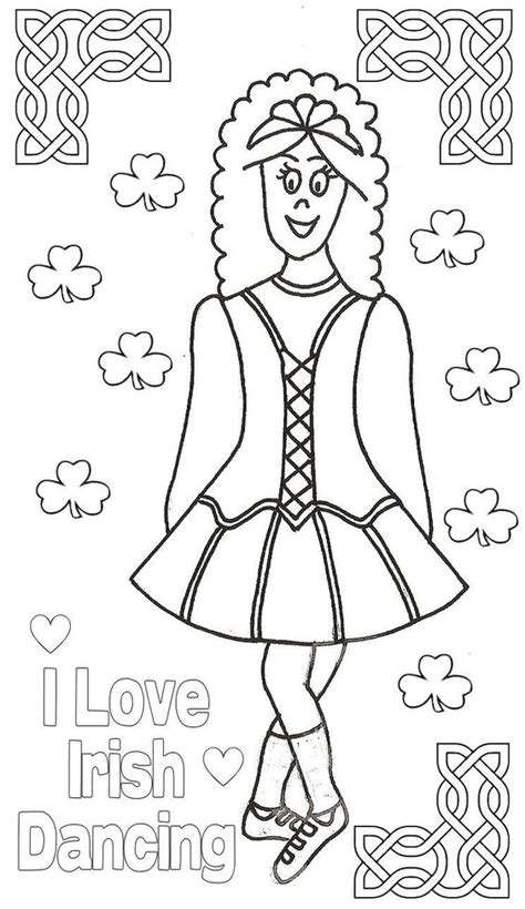 irish coloring book pages i love irish dancing colouring page irish dance images